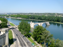 An hour's drive: the city of Avignon